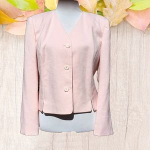 Cutton Up Front Career Blazer Collarless 14P NWOT